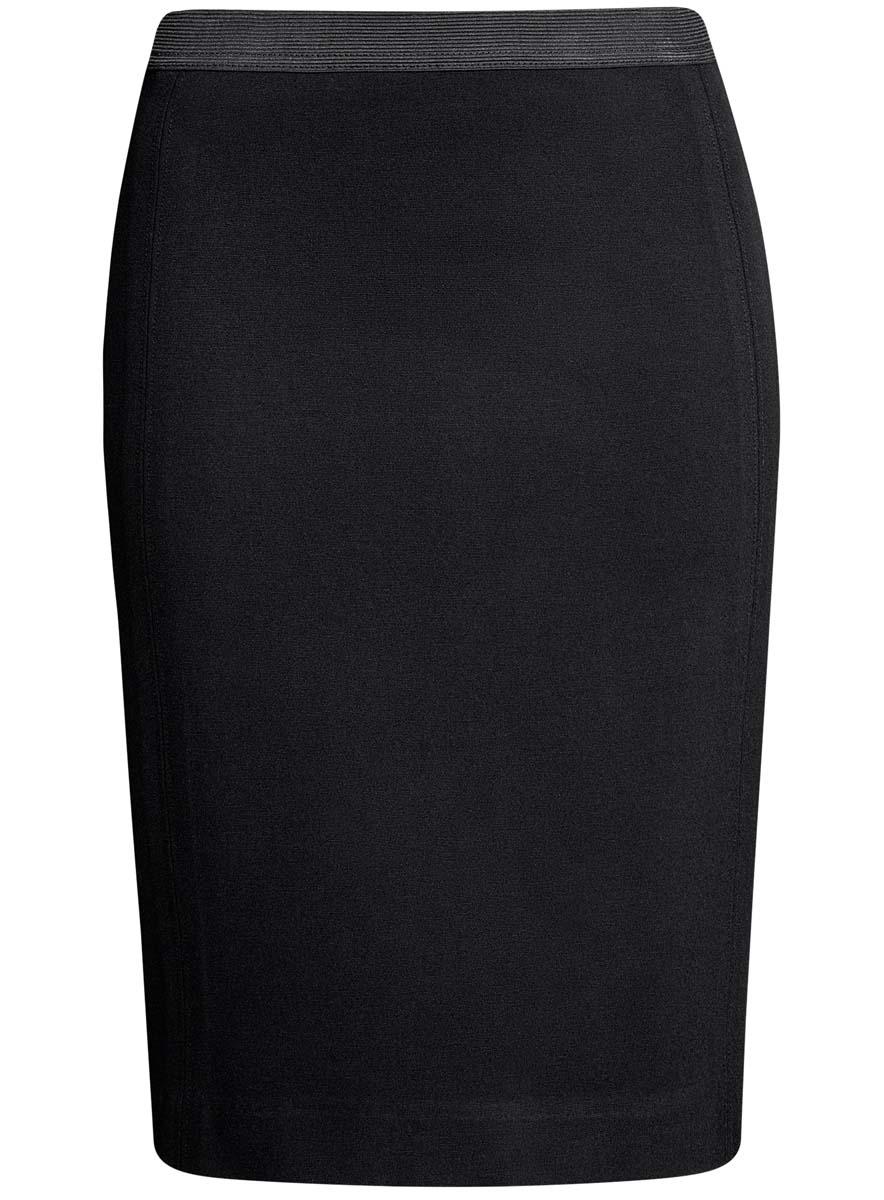 Юбка14101084/33185/2900NСтильная юбка-карандаш выполнена из высококачественного материала. На поясе модель дополнена эластичной резинки, а сзади - шлицей.