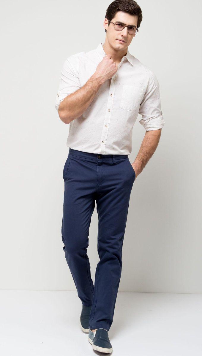 БрюкиP-215/525-7171 (P-215/525-7171T)Стильные мужские брюки Sela, изготовленные из качественного хлопкового материала, станут отличным дополнением гардероба. Брюки полуприлегающего кроя и стандартной посадки на талии застегиваются на застежку-молнию и пуговицу. На поясе имеются шлевки для ремня. Модель дополнена тремя прорезными карманами спереди и двумя прорезными карманами на пуговицах сзади.