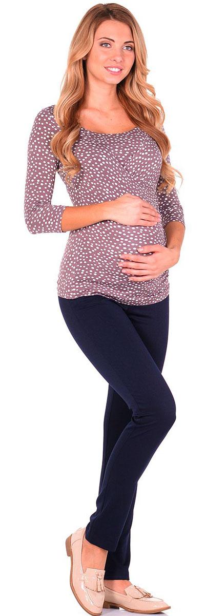 Блузка1304.08 N.V.Удобная, мягкая, элегантная блузка для беременных и кормящих Nuova Vita выполнена из высококачественного комбинированного материала. Очаровательная блузка станет стильным дополнением вашего образа.