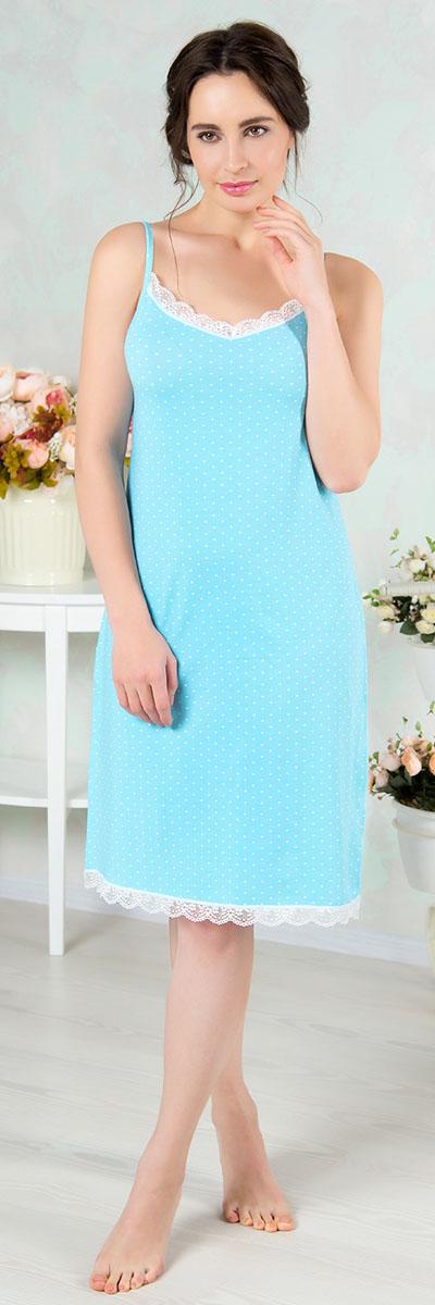 Ночная рубашкаAW16-MCUZ-841Ночная рубашка Mia Cara изготовлена из высококачественного хлопка с добавлением эластана. Длину бретелек можно регулировать. Горловина и низ изделия дополнены кружевом.