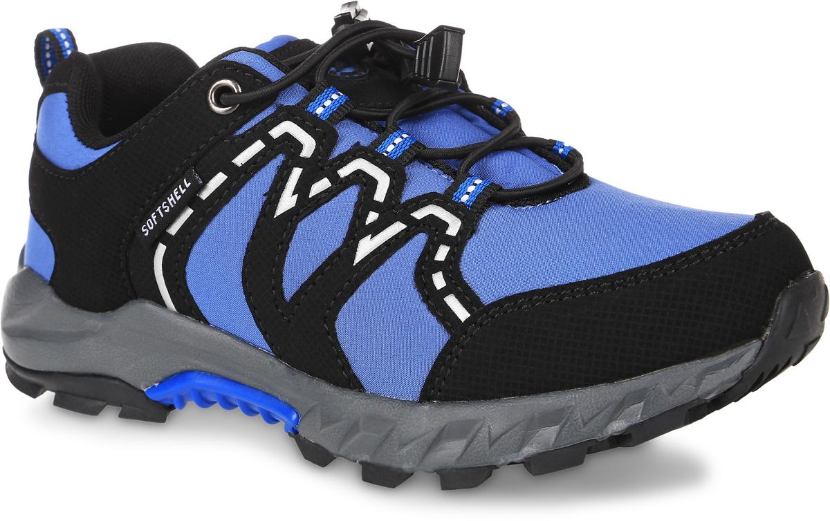 Кроссовки для мальчика Зебра, цвет: голубой, черный. 10973-6. Размер 3510973-6Кроссовки Зебра выполнены из текстиля с технологией SoftShell, которая обеспечивает ветро-влагонепроницаемую защиту. На ноге модель фиксируется с помощью эластичных шнурков со стоппером. Ярлычок на заднике облегчит надевание модели. Внутренняя поверхность выполнена из текстиля, комфортного при движении. Стелька выполнена из легкого ЭВА-материала с поверхностью из натуральной кожи и дополнена супинатором с перфорацией, который обеспечивает правильное положение ноги ребенка при ходьбе, предотвращает плоскостопие. Анатомическая стелька способствует правильному формированию скелета и анатомических сводов детской стопы, снижает общую усталость ног, уменьшает нагрузку на позвоночник, делает ходьбу ребенка легкой, приятной и комфортной. Подошва изготовлена из легкого материала ЭВА. Поверхность подошвы дополнена рельефным рисунком.