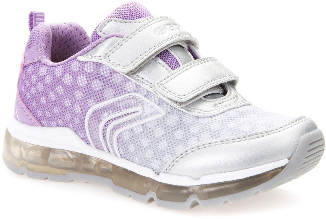 Кроссовки для девочки Geox, цвет: серебристый, светло-фиолетовый, белый. J7245B011AJC1285. Размер 30J7245B011AJC1285Модные кроссовки для девочки Geox покорят своим удобством. Модель выполнена из текстиля. Застежки-липучки обеспечивают плотное прилегание модели на ноге. Стильные кроссовки прекрасно впишутся в гардероб.
