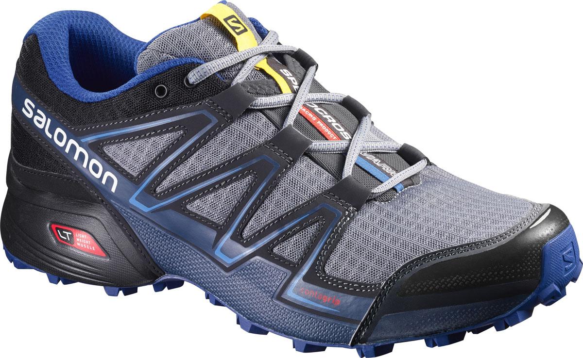 Кроссовки376121Беговые кроссовки Salomon Speedcross Vario выполнены на 72% из синтетического материала и на 28% из сетчатого текстиля. Подъем оформлен шнуровкой, благодаря которой обувь сидит плотно на ноге. Мягкая верхняя часть и подкладка, изготовленная из текстиля, обеспечивают дополнительный комфорт и предотвращают натирание. Стелька Ortholite из ЭВА материала с текстильным верхним покрытием создает более прохладное и сухое пространство под стопой. По бокам модель декорирована оригинальным принтом, язычок дополнен текстильной нашивкой с символикой бренда. Светоотражающий элемент обеспечит лучшую видимость в темное время суток. Подошва Contagrip не оставляет следов и обеспечивает отличное сцепление со скользкой поверхностью. Такие кроссовки займут достойное место в коллекции вашей спортивной обуви.