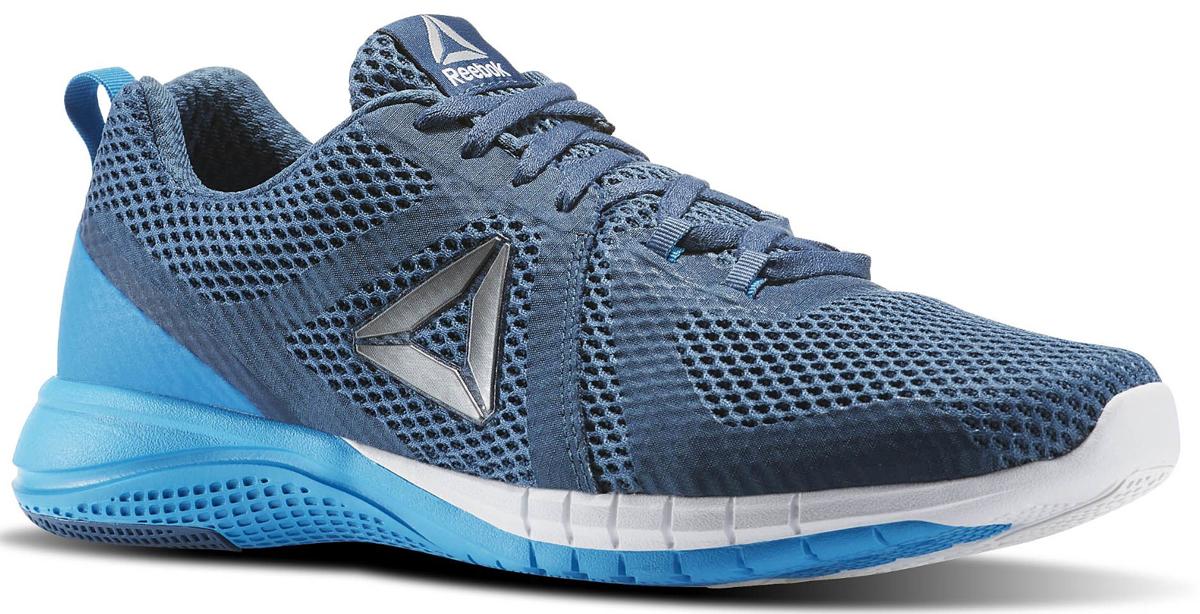 Кроссовки мужские для бега Reebok Print Run 2, цвет: синий. BD1917. Размер 10 (43,5)BD1917Кроссовки Print Run созданы специально для бега. Независимые подвижные элементы на подошве обеспечивают гибкость и амортизацию каждого шага. Эти универсальные кроссовки - отличный вариант как для любителей скорости, так и для поклонников размеренных пробежек. Легкий сетчатый верх обеспечивает вентиляцию, а поперечные вставки - надежную поддержку. Низкий дизайн не стесняет движений во время самых быстрых переходов. Промежуточная подошва, повторяющая рельеф стопы, из карбонизированного пеноматериала для непревзойденной амортизации. Каркас двойной плотности по внешнему периметру для стабильности. Вставки из углеродистой резины в области пятки для большей прочности. Независимые элементы в основных зонах подошвы для большей гибкости и амортизации. Небольшой жесткий задник, отлично фиксирующий положение пятки.