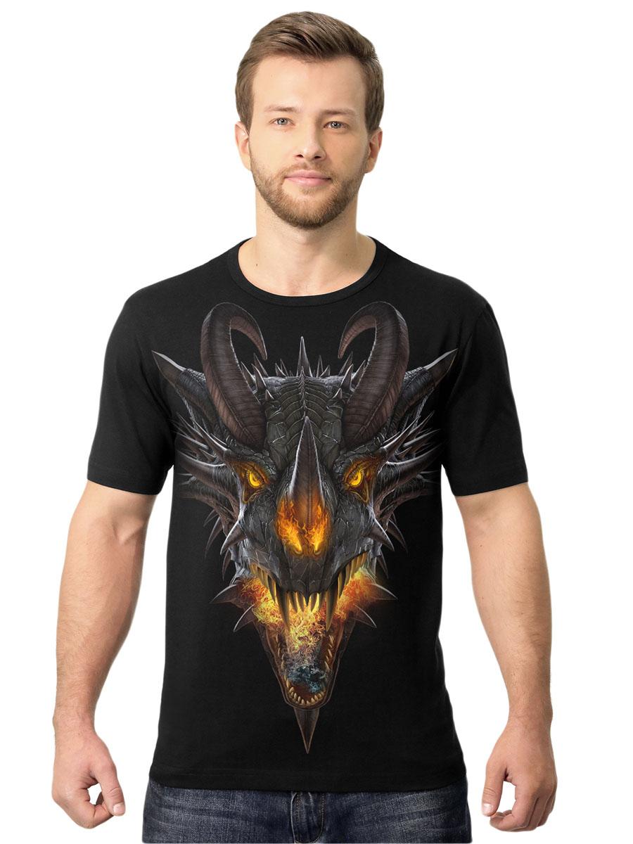 Футболка2-109Стильная мужская футболка MF Огненный дракон выполнена из натурального хлопка. Модель с круглым вырезом горловины и короткими рукавами оформлена абстрактным принтом. Воротник дополнен мягкой эластичной бейкой. Универсальный цвет позволяет сочетать модель с любой одеждой.
