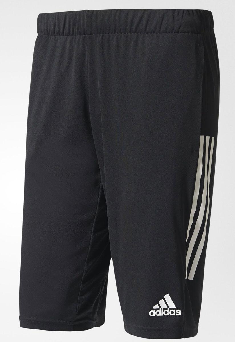 ШортыS96936Шорты футбольные мужские adidas Tanf Shorts выполнены из 100% полиэстера. Прекрасно подходят для интенсивных тренировок.