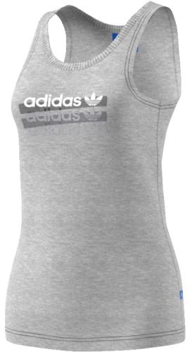 МайкаBK2368Женская майка adidas Tank Top на широких бретельках с круглым вырезом горловины выполнена из натурального хлопка. Модель украшена крупным принтом с изображением логотипа бренда на груди.