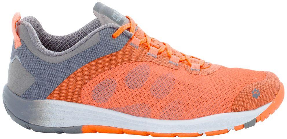 Кроссовки жен Jack Wolfskin Portland Chill Low W, цвет: оранжевый. 4023501-3441. Размер 6,5 (39)4023501-3441Кроссовки женские от Jack Wolfskin - легкие и хорошо проветриваемые кроссовки для путешествий и отдыха с комфортной посадкой по ноге.