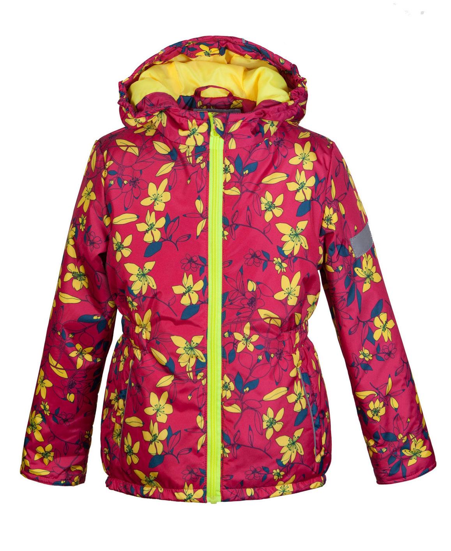 Куртка2К1716Легкая и удобная весенняя куртка Jicco Альма прекрасно подойдет для юных модниц. Благодаря утеплителю плотностью 100 г/м2 куртку можно носить при температуре от +10°С до -5°С. Она прекрасно защитит от ветра и весеннего дождя. Куртка имеет все самое необходимое для комфортной носки. Модель застегивается на молнию. Внутренняя ветрозащитная планка снабжена защитой подбородка от прищемления. Капюшон несъемный, для лучшего прилегания по краям вшита резинка. Манжеты рукавов присборены на резинку. По талии вшита резинка для лучшего прилегания. Также есть светоотражающие элементы и два прорезных открытых кармана. Модель оформлена ярким цветочным рисунком.