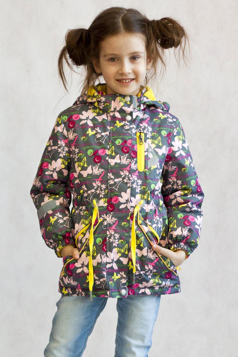 Куртка17/OA-2JK509-2Утепленная куртка-парка Милана из коллекции OLDOS ACTIVE отлично подойдет для активных прогулок вашей непоседы даже в самые прохладные, ветреные и дождливые дни. Верхняя ткань из полиэстера с мембраной 3000/3000 обеспечивает водонепроницаемость, при этом одежда дышит. Покрытие TEFLON повышает износостойкость, а также облегчает уход за курткой. Утеплитель Hollofan PRO плотностью 100 г/м2 позволяет носить куртку при температуре от + 10°С до -5°С. Флисовая подкладка в области грудки и спинки, а также внутри капюшона и на воротнике-стойке обеспечивает дополнительное тепло и комфорт, а также помогает мембране отводить излишнюю влагу (пот). В рукавах - гладкий полиэстер для легкости одевания. Функционал куртки продуман до мелочей: застежка-молния, двойная ветрозащитная планка (внешняя застегивается на кнопки и липучки, внутренняя - с защитой подбородка), съемный капюшон с резинкой для лучшего прилегания, воротник-стойка с мягкой флисовой подкладкой, регулировка...