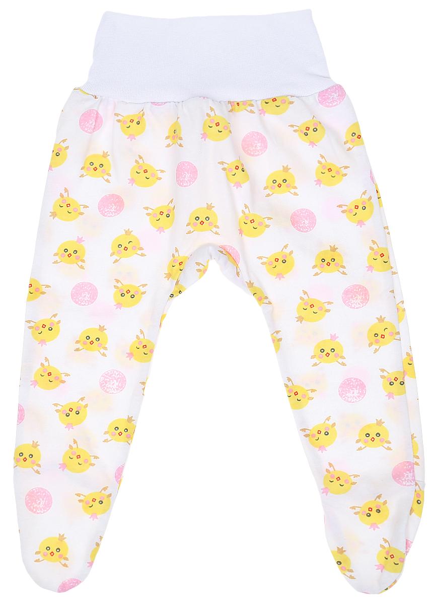 Ползунки детские Чудесные одежки, цвет: белый, розовый. 5207. Размер 685207Детские ползунки Чудесные одежки выполнены из натурального хлопка, благодаря чему великолепно пропускают воздух и обеспечивают комфорт и удобство, не раздражая нежную детскую кожу. Модель с закрытыми ножками и завышенной линией талии имеет широкий эластичный пояс. Ползунки оформлены принтом с изображением забавных цыплят.