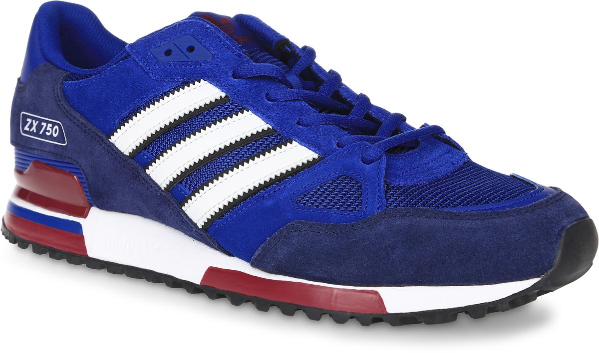 Кроссовки мужские adidas Originals Zx 750, цвет: синий, темно-синий, белый. BB1220. Размер 11 (44,5)BB1220Кроссовки adidas Originals Zx 750 выполнены из натуральной замши, текстиля и искусственной кожи. Модель оформлена фирменными нашивками. Шнурки надежно зафиксируют модель на ноге. Внутренняя поверхность из сетчатого текстиля комфортна при движении.Стелька выполнена из легкого ЭВА-материала с поверхностью из текстиля. Подошва изготовлена из высококачественной резины и дополнена рельефным рисунком.
