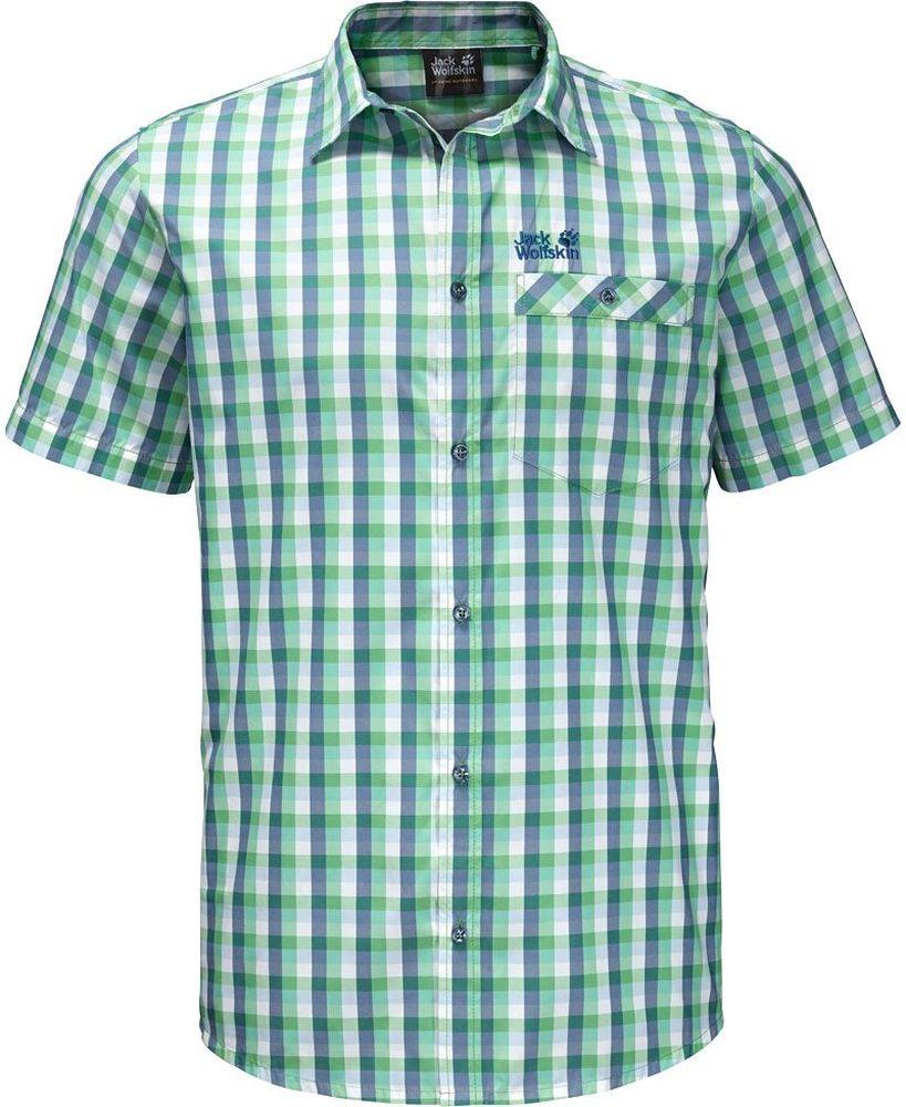 Рубашка1402301-8730Рубашка мужская Napo River Shirt изготовлена из полиэстера и полиамида. Ткань легкая, дышащая и прочная, кроме того, она обладает защитой от ультрафиолета (UPF 50+) и минимизирует образование неприятных запахов даже после нескольких дней активной носки. Рубашка застегивается на пуговицы, имеет отложной воротник и короткие стандартные рукава. Спереди расположен накладной нагрудный карман на пуговице. Модель дополнена принтом в клетку и логотипом бренда. Такая рубашка идеально подходит для путешествий в жаркие страны и отдыха на природе.