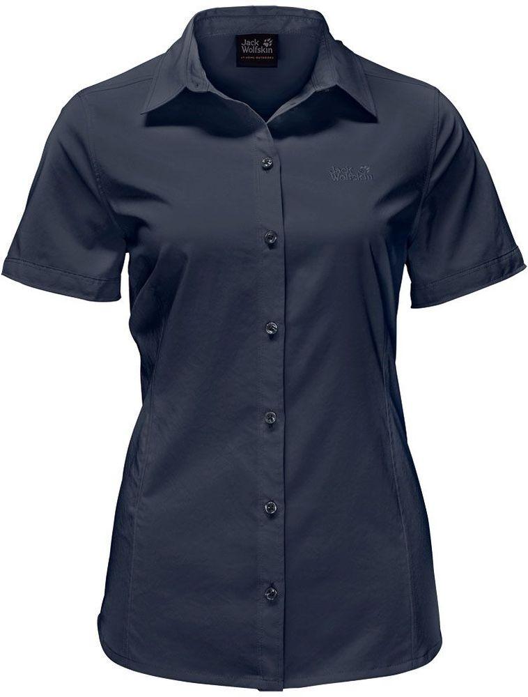 Рубашка1402381-1910Рубашка Sonora Shirt выполнена из 100% полиэстера. Ткань мягкая, легкая, приятная на ощупь и эластичная, она обладает защитой от ультрафиолета (UPF 30+) и быстро сохнет. Рубашка застегивается на пуговицы, имеет отложной воротник и короткие стандартные рукава. Спереди расположен накладной нагрудный карман. Модель выполнена в однотонном дизайне и дополнена логотипом бренда. Такая рубашка идеально подходит для путешествий, отдыха или на каждый день.