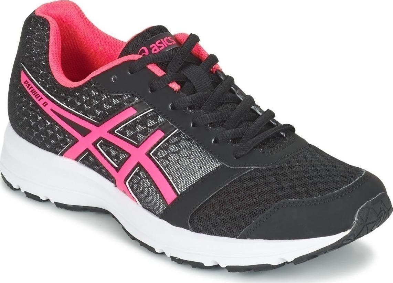 Кроссовки для бега женские Asics Patriot 8, цвет: черный, розовый. T669N-9020. Размер 6 (35,5)T669N-9020Кроссовки для бега Asics Patriot 8 выполнены из сетчатого текстиля комбинированных цветов и дополнены элементами из искусственной кожи. Модель оформлена фирменными нашивками. На ноге модель фиксируется с помощью шнурков. Внутренняя поверхность выполнена из мягкого сетчатого текстиля. Стелька выполнена из ЭВА-материала с поверхностью из текстиля. Подошва изготовлена из легкого и гибкого ЭВА-материала. Поверхность подошвы выполнена из прочной резины и дополнена протектором, который гарантирует отличное сцепление с любой поверхностью.