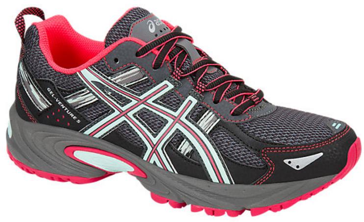 Кроссовки для бега женские Asics Gel-Venture 5, цвет: серый, розовый. T5N8N-9720. Размер 6 (35,5)T5N8N-9720Кроссовки Asics Gel-Venture 5 зарекомендовали себя как отличные внедорожники и просто универсальные кроссовки. В первую очередь предназначены для бега по пересеченной местности, а также хорошо ведут себя и при использовании на асфальтовом покрытии. AHAR+ - резина повышенной износостойкости, которая продлевает срок службы обуви. GEL в пятке отлично справляется с функцией поглощения ударов и снижения нагрузки на суставы.