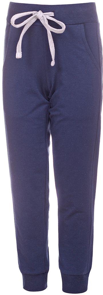 БрюкиБ192620Спортивные брюки M&D выполнены из хлопка с добавлением лайкры. Брюки на талии имеют широкую эластичную резинку, благодаря чему, они не сдавливают живот ребенка и не сползают. Спереди предусмотрены два втачных кармашка. Низ брючин дополнен эластичными манжетами.