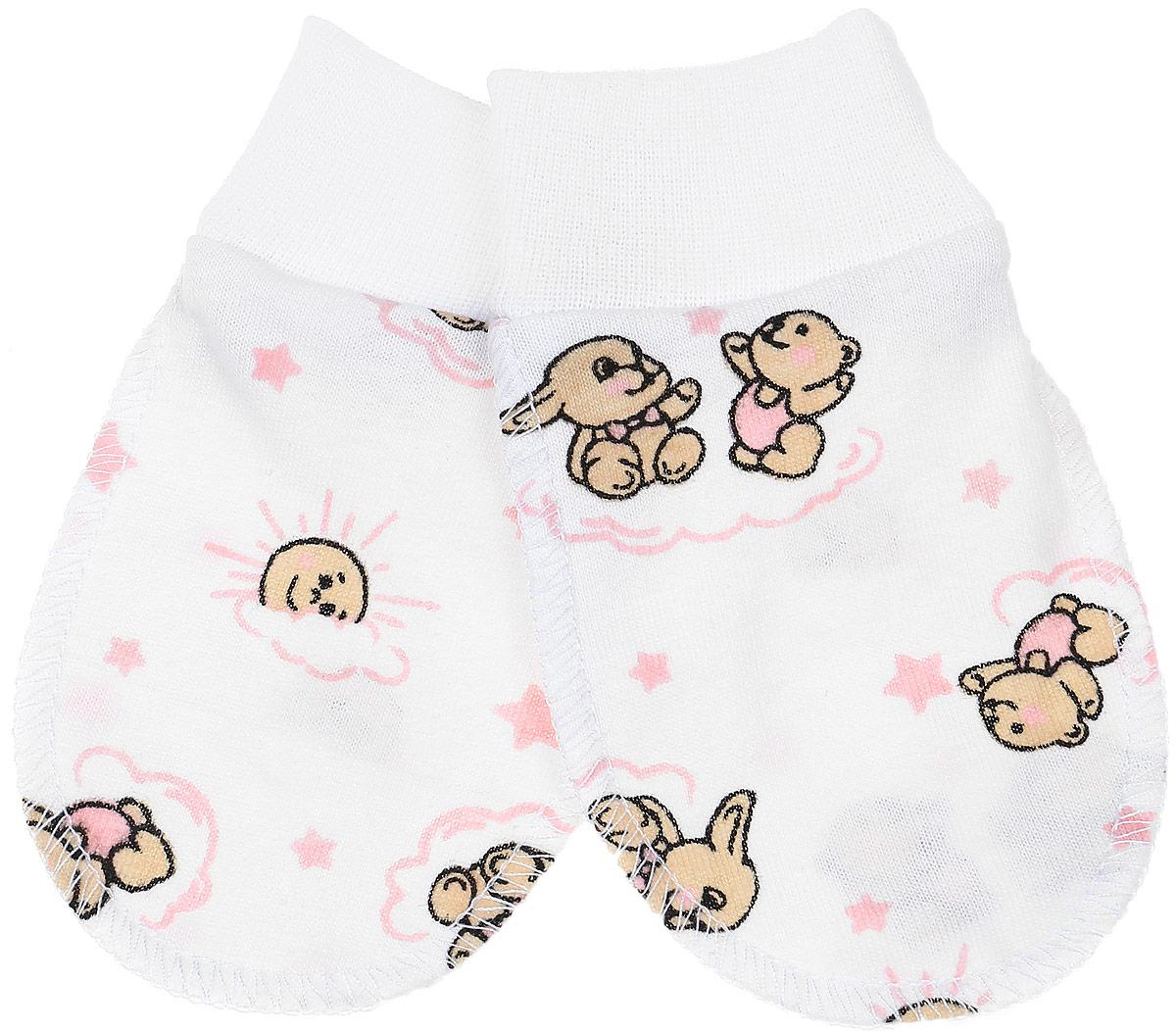 Рукавички5906Рукавички для младенцев Чудесные одежки изготовлены из натурального хлопка. Они не раздражают нежную кожу ребенка. Широкие мягкие резинки не стягивают ручки. Швы выполнены на лицевую сторону.