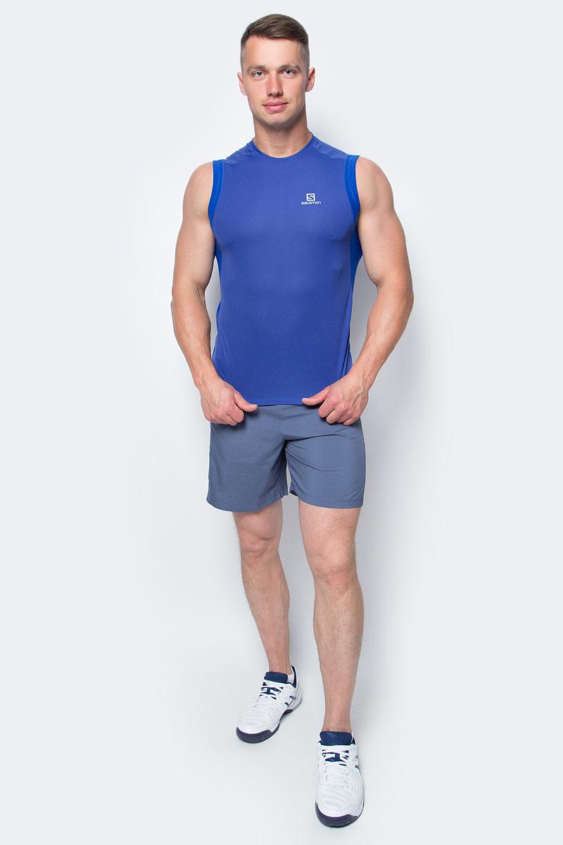 МайкаL39259700Майка Salomon идеально подходит для занятий бегом или хайкинга в жаркую погоду. Мужская футболка обеспечивает полную свободу движений и вентиляцию, прекрасно сидит при надетом рюкзаке.