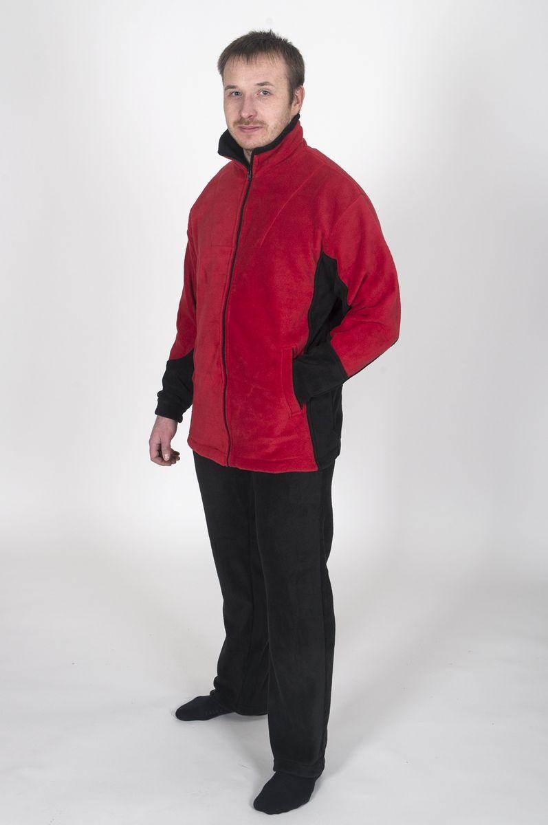 Куртка Fisherman Комфорт, цвет: красный, черный. 62232. Размер 48/50КомфортФлисовая куртка Комфорт отлично заменит шерстяной свитер или кофту. Куртка имеет разъемную молнию, высокий воротник и два глубоких кармана. Низ куртки регулируется при помощи резинки и стоппера. Изготавливается из ткани Polar fleece плотностью 300 гр\м2.Polar fleece это: трикотажная ткань с двухсторонним ворсом: особо износоустойчивым с наружной стороны - Polar и очень мягким и комфортным с внутренней - fleece. Polar fleece - лучший современный заменитель шерсти, дышащий и не вызывающий аллергии.Основные достоинства и преимущества:высокоэффективная теплозащита; мягкость и комфорт при прикосновении; отлично впитывает влагу и не холодит тело при намокании, как одежда из хлопка; быстро высыхает после намокания – быстрее, чем хлопок или шерсть; не обладает усадкой после стирки; не растягивается и не теряет форму в процессе эксплуатации.