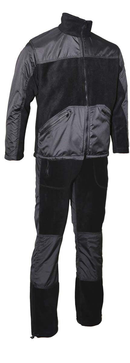 Комплект одежды Vostok Пикник-Люкс: куртка, брюки, цвет: черный. 43983. Размер 52/54Пикник-ЛюксМягкий, теплый, флисовый костюм Пикник-Люкс. Может использоваться для повседневной носки в прохладную погоду. Подходит как для отдыха на природе, так и для домашней носки. Комбинирование двух тканей разного типа делают этот костюм самостоятельной моделью, которую можно носить в сочетании с другими вещами.Куртка имеет высокий воротник-стойку с утяжкой. Застегивается на молнию, дополнена двумя объемными карманами. Модель оформлена утяжкой по низу. Имеются вставки из ткани Taslan для улучшения внешнего вида и усиленияБрюки прямого кроя с широким поясом на резинке с шнуром–утяжкой. Брюки дополнены двумя карманами по бокам. Регулировка ширины низа брюк. Вставки из ткани Taslan в области колена для усиления.Ткань верха: Polar Fleece 270 г/м2.