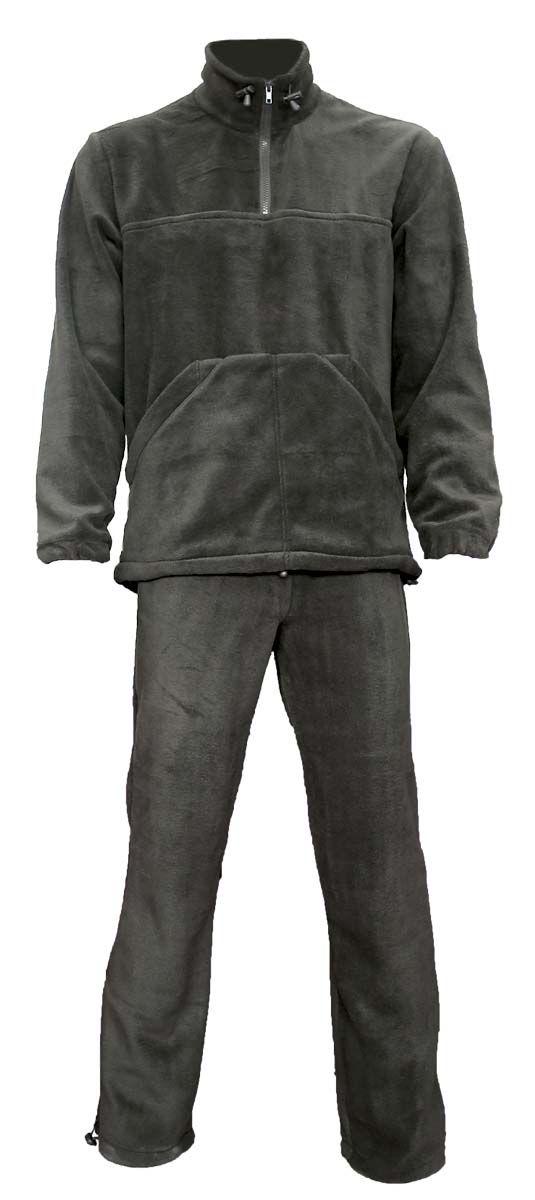 Комплект верхней одеждыПикникКомфортный и мягкий, теплый костюм из флиса. Рекомендуется использовать как для повседневной носки, так и в качестве дополнительного слоя одежды под зимний или демисезонный костюм в холодную погоду. Толстовка типа анорак с высоким воротником-стойкой с утяжкой. Большой карман спереди типа кенгуру По низу толстовки проходит шнурок-утяжка. Брюки прямого кроя с широким поясом на резинке с шнуром - утяжкой. Имеется регулировка ширины низа брюк. Ткань верха: Polar Fleece 270 г/м2.