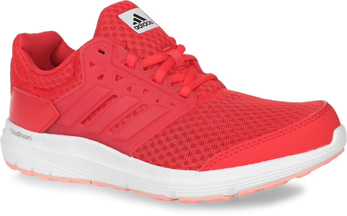 Кроссовки для бега женские adidas Galaxy 3, цвет: ярко-розовый. BB4369. Размер 7,5 (40)BB4369Женские кроссовки для бега adidas Galaxy 3, выполненные из сетчатого текстиля, оформлены фирменными нашивками из полимера и искусственной кожи. Шнурки надежно зафиксируют модель на ноге. Внутренняя поверхность из сетчатого текстиля комфортна при движении. Стелька выполнена из легкого ЭВА-материала с поверхностью из текстиля. Подошва изготовлена из высококачественной легкой резины и оснащена технологией Cloudfoam для поглощения ударных нагрузок и комфортной посадки без разнашивания. Поверхность подошвы дополнена рельефным рисунком.