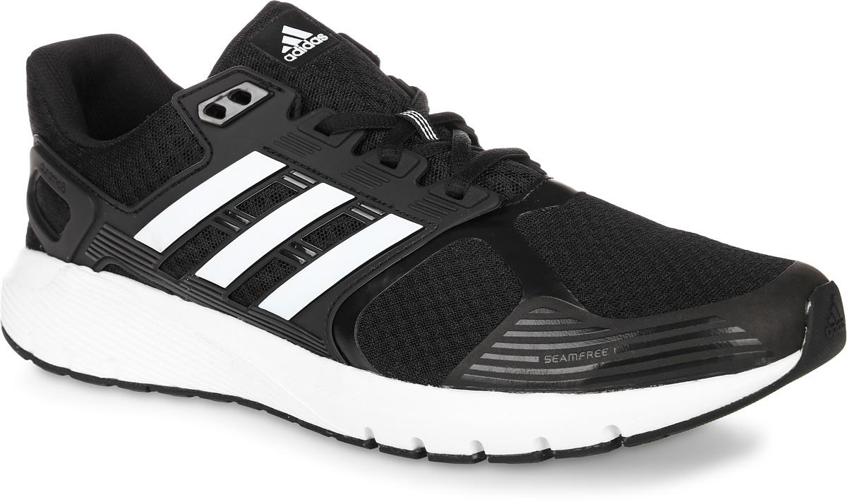 Кроссовки для бега мужские adidas Duramo 8, цвет: черный. BB4653. Размер 9,5 (42,5)BB4653Мужские кроссовки для бега adidas Duramo 8 выполнены из текстиля и оформлены фирменными накладками из полимера. Шнурки надежно зафиксируют модель на ноге. Внутренняя поверхность из сетчатого текстиля комфортна при движении. Стелька выполнена из легкого ЭВА-материала с поверхностью из текстиля.Подошва изготовлена из высококачественной легкой резины и оснащена технологией Cloudfoam для поглощения ударных нагрузок и комфортной посадки без разнашивания. Поверхность подошвы дополнена рельефным рисунком.