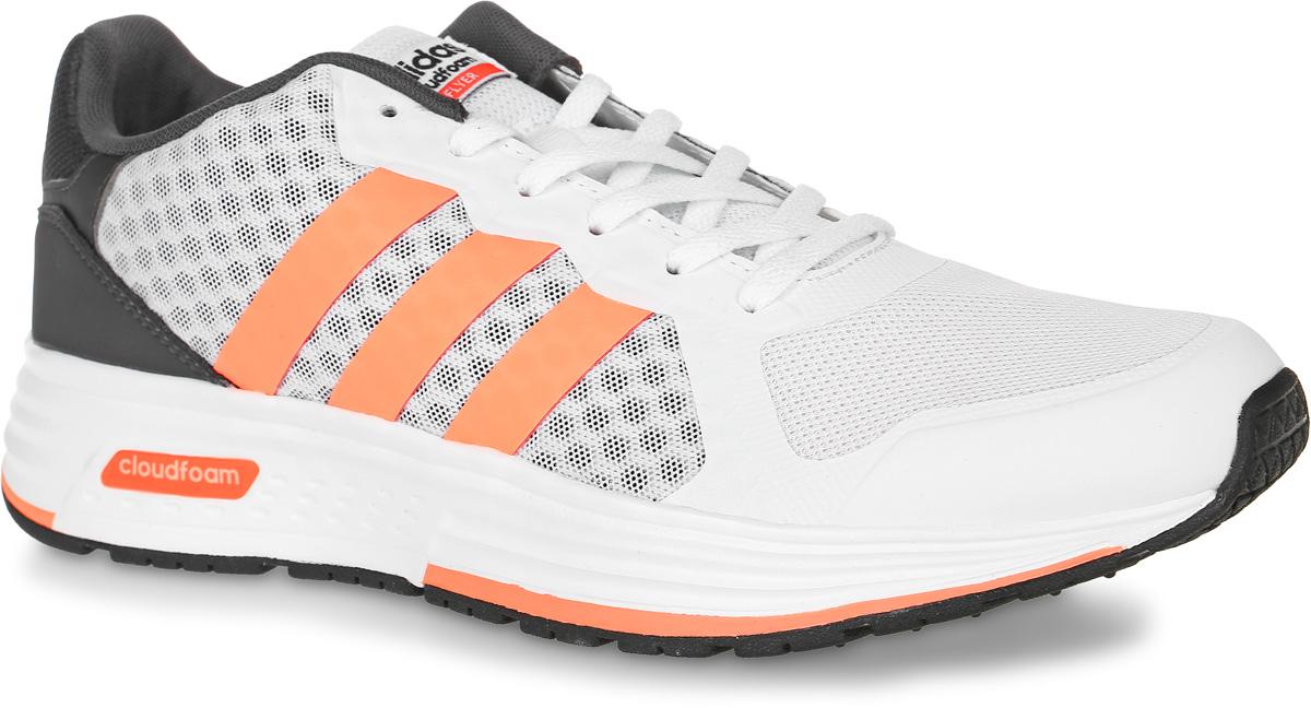 Кроссовки женские adidas Neo Cloudfoam Flyer, цвет: белый, темно-серый, оранжевый. B74726. Размер 8,5 (41)B74726Женские кроссовки adidas Neo Cloudfoam Flyer выполнены из сетчатого текстиля и искусственной кожи. Модель оформлена фирменными накладками из полимера. Шнурки надежно зафиксируют модель на ноге. Внутренняя поверхность из сетчатого текстиля комфортна при движении. Стелька выполнена из легкого ЭВА-материала с поверхностью из текстиля. Подошва изготовлена из высококачественной легкой резины и оснащена технологией Cloudfoam для поглощения ударных нагрузок и комфортной посадки без разнашивания. Поверхность подошвы дополнена рельефным рисунком.