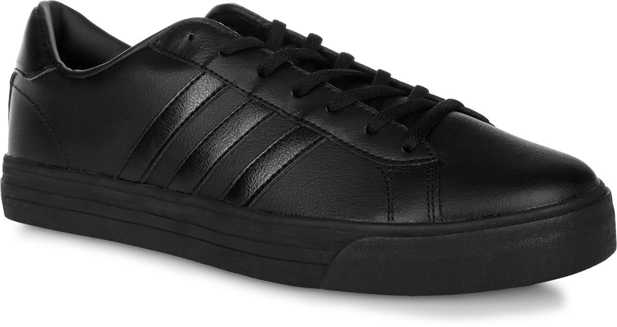 Кроссовки мужские adidas Neo Cloudfoam Super Daily, цвет: черный. AW3902. Размер 12 (46)AW3902Мужские кроссовки adidas Neo Cloudfoam Super Daily, выполненные из натуральной и искусственной кожи, оформлены фирменными нашивками и надписями. Шнурки надежно зафиксируют модель на ноге. Внутренняя поверхность из натуральной кожи и текстиля комфортны при движении. Стелька выполнена из легкого ЭВА-материала с поверхностью из текстиля и оснащена технологией Cloudfoam Memory, благодаря которой стелька плотно прилегает к стопе, обеспечивая безупречный комфорт. Подошва Cloudfoam Super с ультрамягкими вставками изготовлена из высококачественной резины и дополнена рельефным рисунком.