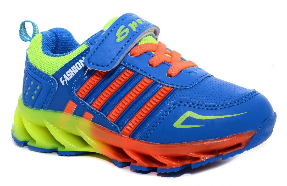 Кроссовки для мальчика М+Д, цвет: синий, оранжевый. 7404_14. Размер 287404_14Стильные кроссовки для мальчика М+Д выполнены из качественной искусственной кожи. Модель оформлена яркими декоративными вставками. Обувь фиксируется на ноге при помощи удобной шнуровки и липучки. Высокая подошва из полимера дополнена рифлением.