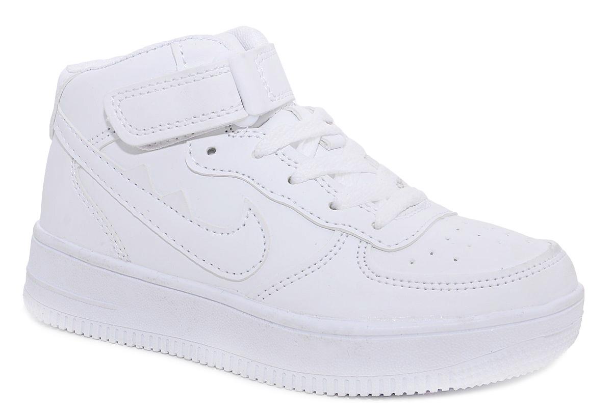 Кроссовки для мальчика М+Д, цвет: белый. 7426_10. Размер 367426_10Стильные кроссовки для мальчика М+Д выполнены из качественной искусственной кожи. Обувь фиксируется на ноге при помощи удобной шнуровки и липучки. Практична подошва из полимера дополнена рифлением.