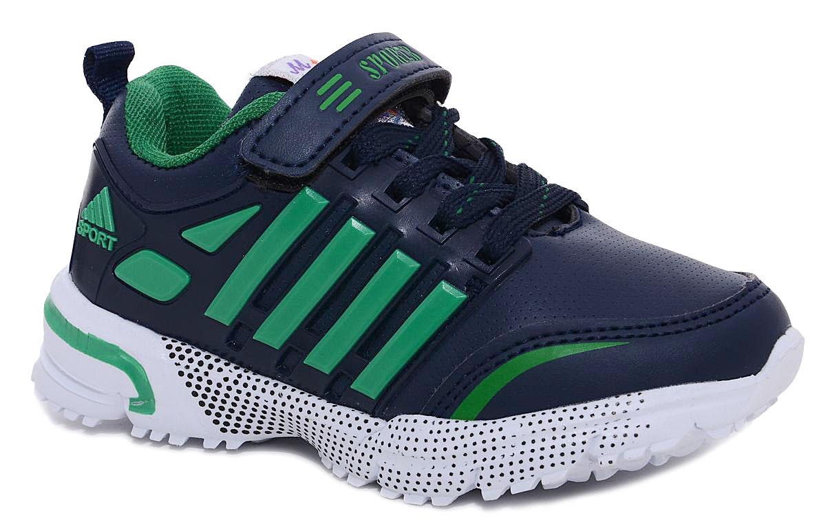 Кроссовки для мальчика М+Д, цвет: темно-синий, зеленый. 7429_18. Размер 307429_18Стильные кроссовки для мальчика М+Д выполнены из качественной искусственной кожи. Модель оформлена яркими декоративными вставками. Обувь фиксируется на ноге при помощи удобной шнуровки и липучки. Высокая подошва из полимера дополнена рифлением.