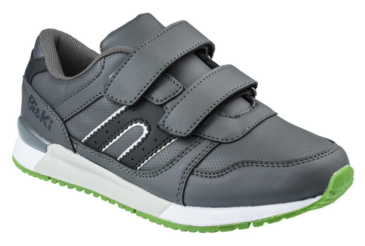 Кроссовки для мальчика BiKi, цвет: темно-серый, черный. A-B86-05-C. Размер 35A-B86-05-CКроссовки от фирмы BiKi выполнены из искусственной кожи с перфорацией. Застежки-липучки обеспечивают надежную фиксацию обуви на ноге ребенка. Подкладка выполнена из текстиля и натуральной кожи, что предотвращает натирание и гарантирует уют. Подошва с рифлением обеспечивает идеальное сцепление с любыми поверхностями. Стильные и удобные кроссовки - незаменимая вещь в гардеробе каждого школьника.
