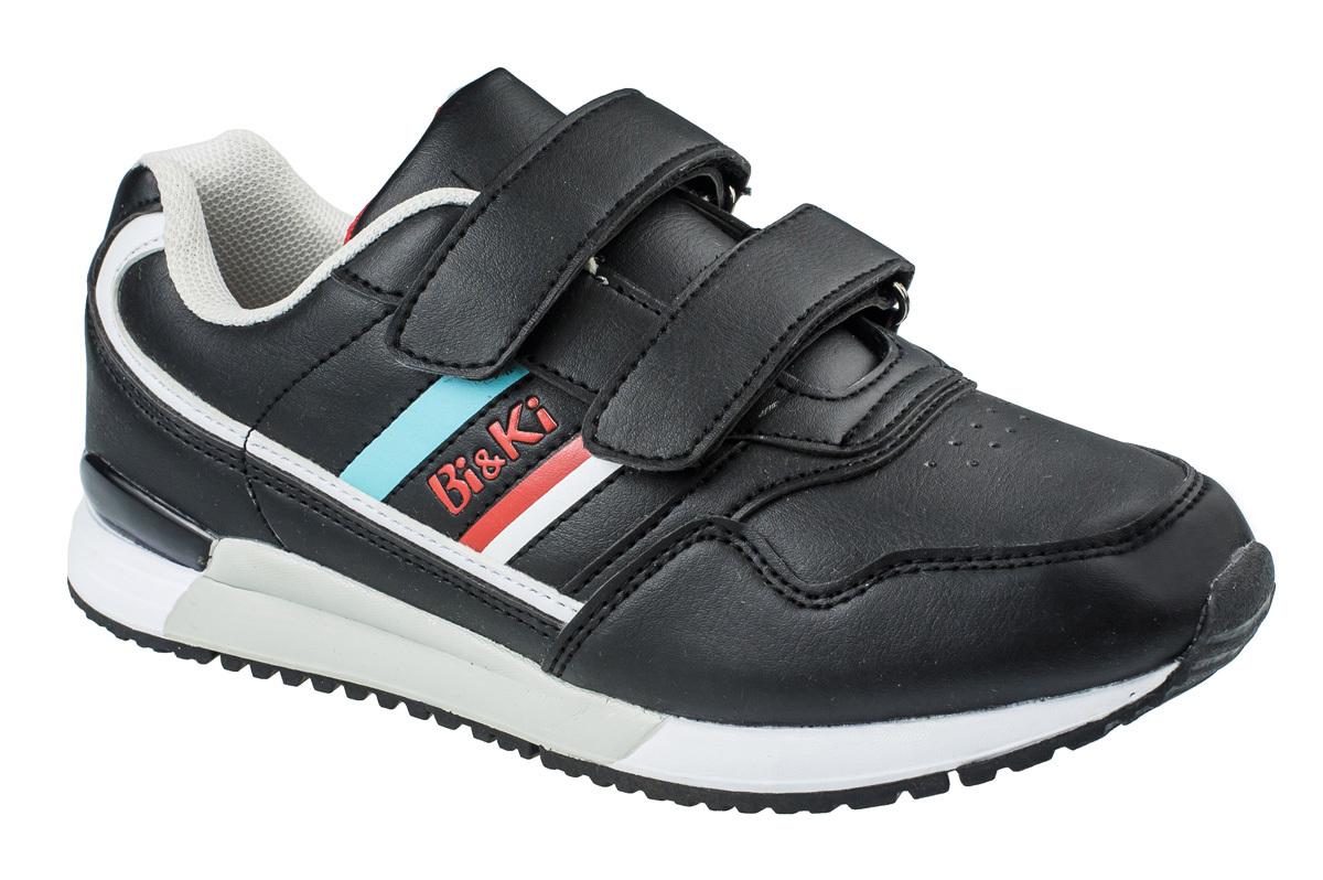 Кроссовки для мальчика BiKi, цвет: черный. A-B86-07-A. Размер 38A-B86-07-AКроссовки от фирмы BiKi выполнены из искусственной кожи. Застежки-липучки обеспечивают надежную фиксацию обуви на ноге ребенка. Подкладка выполнена из текстиля и натуральной кожи, что предотвращает натирание и гарантирует уют. Подошва с рифлением обеспечивает идеальное сцепление с любыми поверхностями. Стильные и удобные кроссовки - незаменимая вещь в гардеробе каждого школьника.