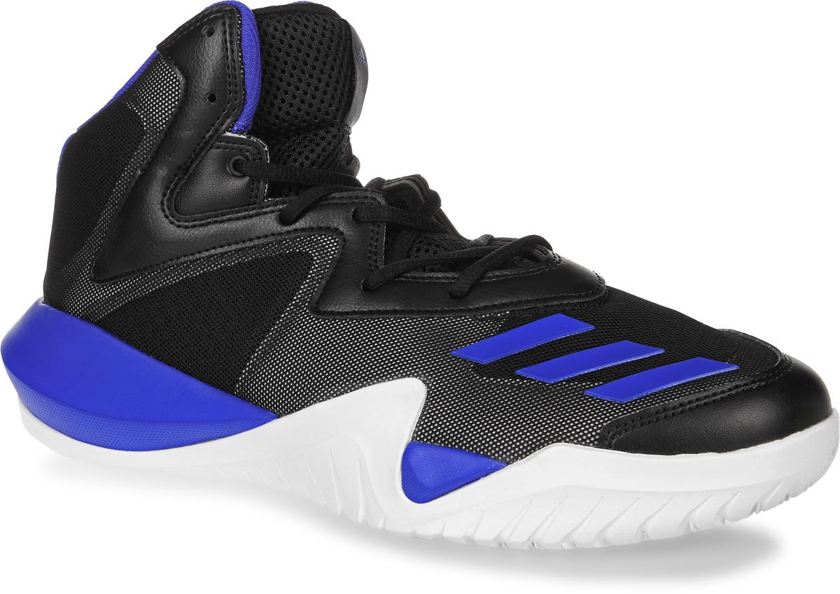 Кроссовки для баскетбола мужские adidas Crazy Team 2017, цвет: черный, синий. BB8253. Размер 12,5 (46,5)BB8253Мужские кроссовки для баскетбола adidas Crazy Team 2017 выполнены из сетчатого текстиля и искусственной кожи. Модель оформлена фирменными накладками из полимера. Шнурки надежно зафиксируют модель на ноге. Внутренняя поверхность из сетчатого текстиля комфортна при движении. Стелька выполнена из легкого ЭВА-материала с поверхностью из текстиля. Подошва изготовлена из высококачественной резины и дополнена рельефным рисунком. Задняячасть подошвы оснащена вставкой из Adiprene, которая смягчает ударную нагрузку на стопу и обеспечивает дополнительную амортизацию.
