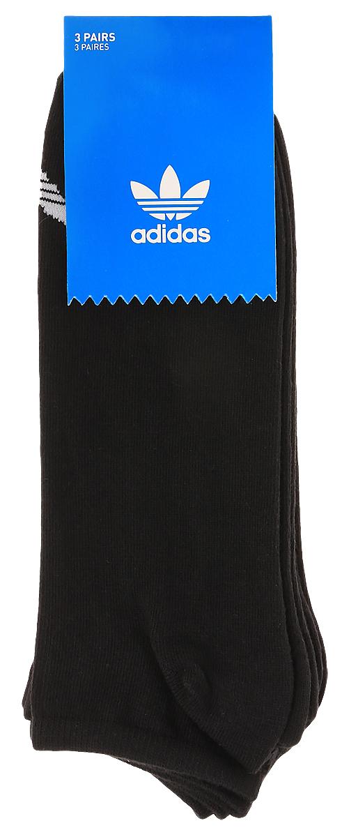 Носки adidas Trefoil Liner, цвет: черный, 3 пары. S20274. Размер 35/38S20274Носки adidas Trefoil Liner изготовлены из высококачественного эластичного хлопка с добавлением полиэстера. Укороченные носки с поддержкой стопы имеют эластичную резинку, которая надежно фиксирует носки на ноге. В комплект входят 3 пары носков, оформленных логотипом бренда adidas.