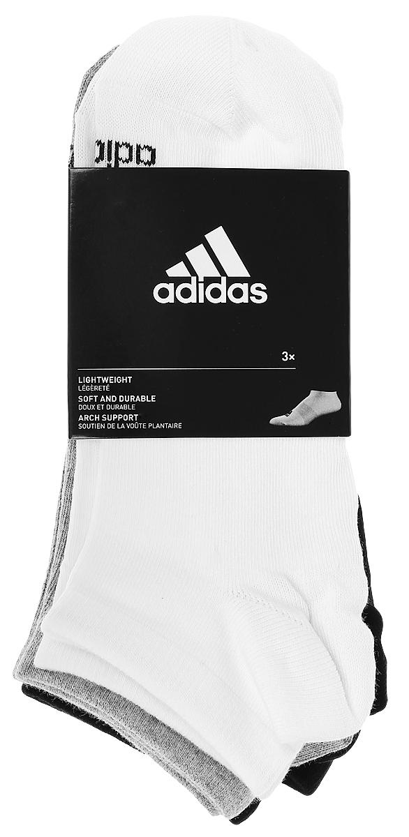 Комплект носковAA2311Носки adidas Per No-Sh T изготовлены из высококачественного эластичного хлопка с добавлением полиэстера. Укороченные носки с поддержкой стопы имеют эластичную резинку, которая надежно фиксирует носки на ноге. В комплект входят 3 пары носков, оформленных логотипом бренда adidas.