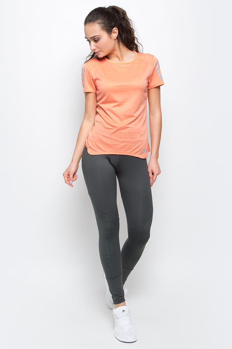 ФутболкаBP7455Женская футболка Rs ss tee w от adidas подойдет для самых интенсивных тренировок. У модели круглый вырез горловины и стандартные короткие рукава. Технология climalite обеспечивает интенсивное влагоотведение с поверхности тела.