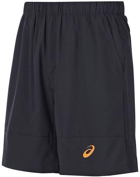 Шорты141147-0904Мужские шорты для тенниса Asics M Club Short 7in - это незаменимый атрибут в гардеробе любого спортсмена. Стильные удобные шорты выполнены из высококачественного полиэстера, благодаря чему превосходно сидят, не стесняют движений и великолепно отводят влагу, оставляя тело сухим даже во время интенсивных тренировок. Модель дополнена широкой эластичной резинкой на талии. Шорты имеют два втачных кармана спереди. Модель оформлена логотипом.