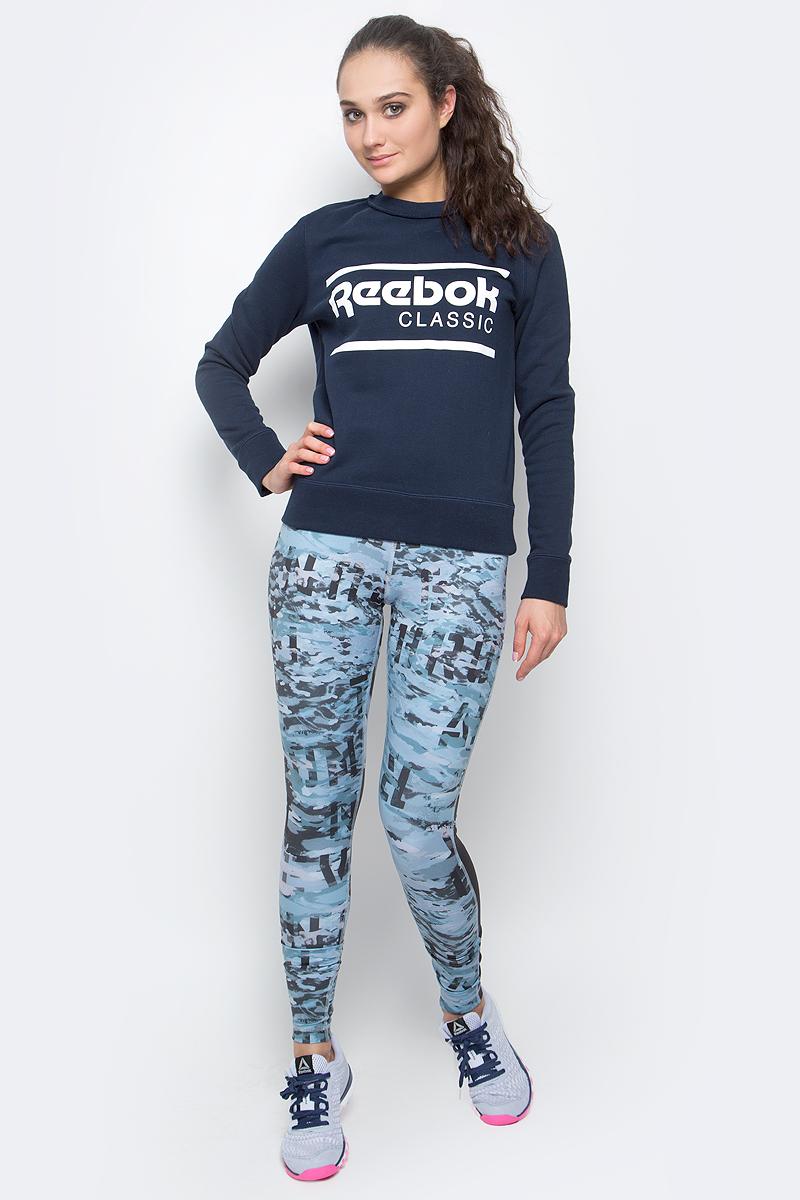 СвитшотBK2408Свитшот F Iconic Crew Sweat от Reebok выполнен из мягкой хлопковой ткани. Плоские швы сводят к минимуму риск натирания. У модели круглый ворот, манжеты и подол на резинке в рубчик для оптимальной посадки. Ворот дополнен оригинальной окантовкой. Спереди изделие декорировано принтом в виде логотипа бренда.
