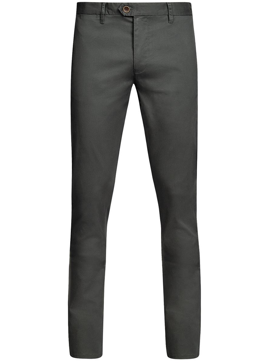 Брюки мужские oodji Basic, цвет: темно-серый. 2B150024M/19302N/2500N. Размер 42-182 (50-182)2B150024M/19302N/2500NМужские брюки oodji Basic выполнены из высококачественного материала. Модель-чинос стандартной посадки застегивается на пуговицу в поясе и ширинку на застежке-молнии. Пояс имеет шлевки для ремня. Спереди брюки дополнены втачными карманами, сзади - прорезными.