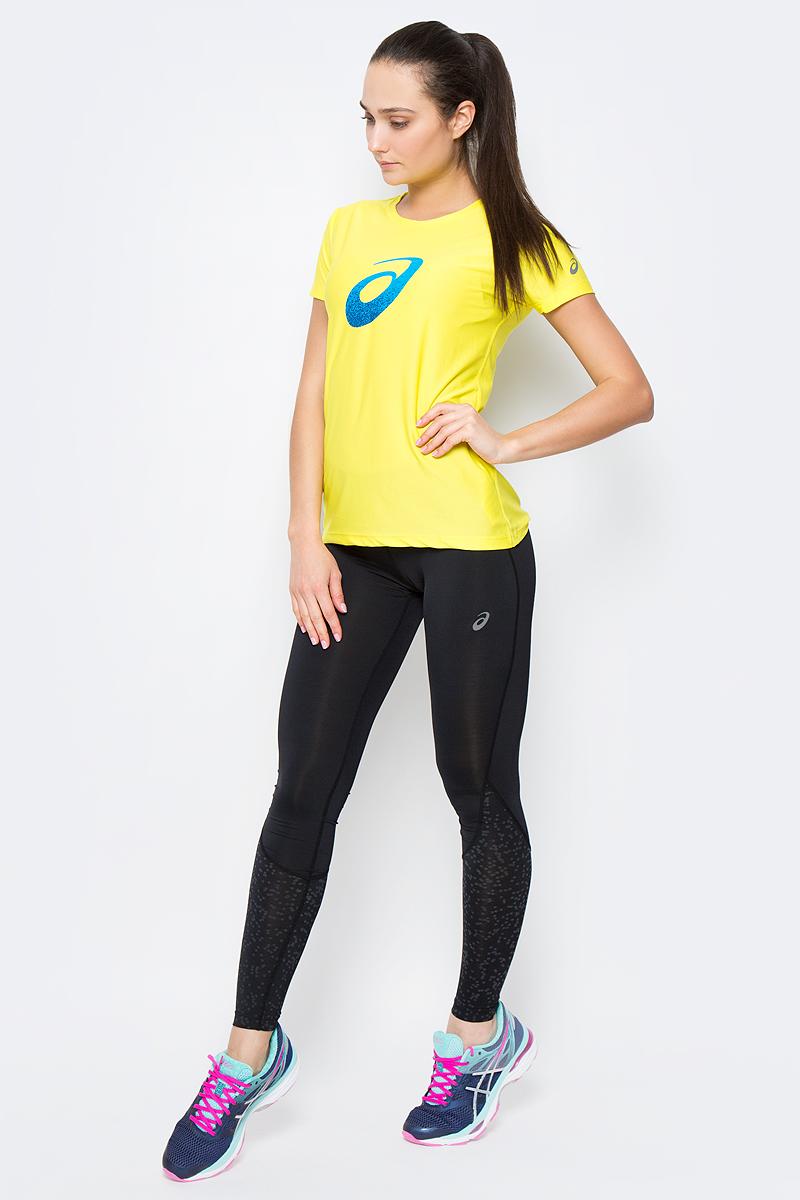 Футболка для бега женская Asics Graphic SS Top, цвет: желтый. 134105-0343. Размер XL (50/52)134105-0343Женская футболка Asics Graphic Ss Top предназначена специально для бега. Эта легкая беговая футболка обеспечит вам безупречный комфорт и достижение высоких спортивных результатов благодаря мягкой эластичной ткани, которая отводит влагу и поддерживает тело сухим. Плоские швы не натирают кожу и обеспечивают полный комфорт.Футболка декорирована светоотражающим логотипом бренда. Максимальный комфорт и уникальный спортивный образ!