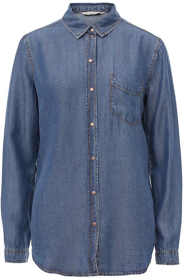 РубашкаBj-132/029-7161Стильная джинсовая рубашка Sela выполнена из качественного материала и дополнена накладным карманом на груди. Модель прямого кроя с длинными рукавами и отложным воротничком застегивается на металлические кнопки. Манжеты рукавов также дополнены кнопками. Изделие подойдет для прогулок и дружеских встреч и будет отлично сочетаться с джинсами и брюками. Мягкая ткань комфортна и приятна на ощупь.