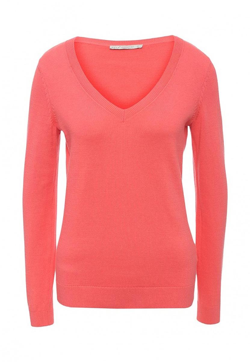 Пуловер женский Sela, цвет: ярко-розовый. JR-114/2022-7181. Размер XS (42)JR-114/2022-7181Женский пуловер Sela выполнен из натурального хлопка мелкой вязки. Модель приталенного кроя с V-образным вырезом горловины подойдет для офиса, прогулок и дружеских встреч и будет отлично сочетаться с джинсами и гармонично смотреться с юбками. Воротник, манжеты рукавов и низ изделия связаны резинкой.