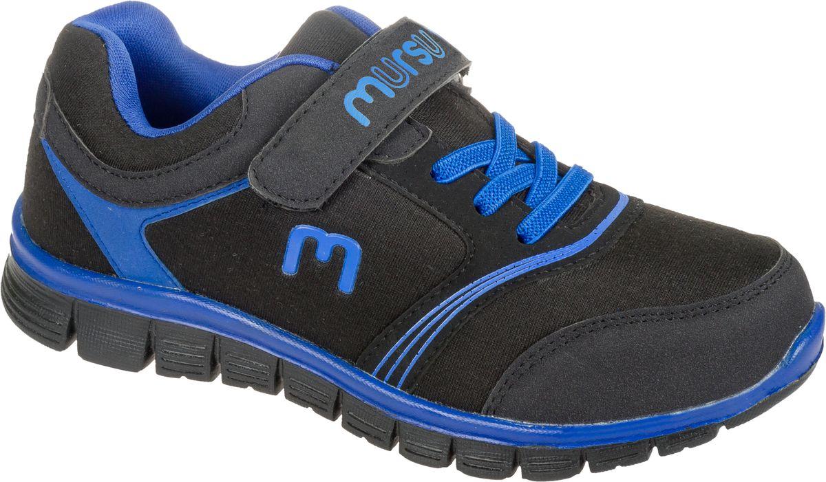 Кроссовки для мальчика Mursu, цвет: черный, синий. 101569. Размер 32101569Стильные кроссовки от Mursu предназначены для занятий спортом и повседневной носки. Модель выполнена из качественного текстиля с элементами из искусственной кожи и оформлена оригинальным принтом. Хлястик с липучкой и удобная шнуровка прочно закрепят модель на ноге. Подкладка и стелька из текстиля и натуральной кожи гарантируют комфорт при носке. Гибкая подошва с рифлением обеспечивает идеальное сцепление с разными поверхностями.