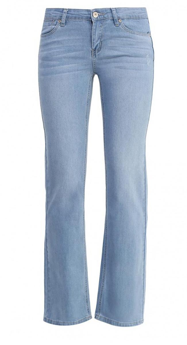 Джинсы женские Sela Denim, цвет: голубой джинс. PJ-135/601-7161. Размер 29-32 (46-32)PJ-135/601-7161Стильные джинсы Sela, изготовленные из качественного материала, станут отличным дополнением вашего гардероба. Джинсы прямого кроя и стандартной посадки на талии застегиваются на застежку-молнию и пуговицу. На поясе имеются шлевки для ремня. Модель представляет собой классическую пятикарманку: два втачных и маленький прорезной карманы спереди и два накладных кармана сзади.