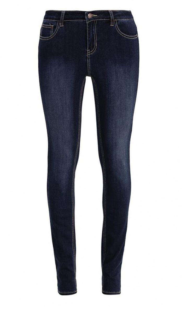 Джинсы женские Sela Denim, цвет: темно-синий джинс. PJ-135/587-7161. Размер 26-32 (42-32)PJ-135/587-7161Стильные джинсыSela, изготовленные из качественного материала с контрастной строчкой и потертостями, станут отличным дополнением вашего гардероба. Джинсы прилегающего кроя и стандартной посадки на талии застегиваются на застежку-молнию и пуговицу. На поясе имеются шлевки для ремня. Модель представляет собой классическую пятикарманку: два втачных и накладной карманы спереди и два накладных кармана сзади.