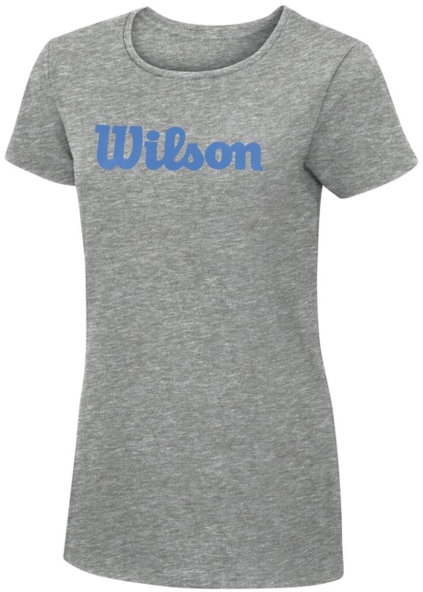 ФутболкаWRA758201Тренировочная футболка с логотипом Wilson. Спортивный крой для оптимального комфорта. Модель выполнена с круглой горловиной и короткими рукавами.