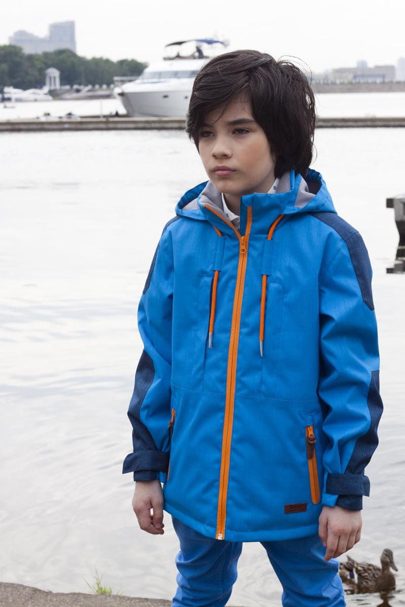 Куртка2jk714Куртка для мальчика atPlay выполнена из качественного полиэстера. Стильная куртка - парка на весну для мальчика. Давно полюбившаяся взрослым и детям удлиненная модель куртки. Универсальна в сочетании с различными стилями – уместна и с классическими школьными брюками и в спортивных сочетаниях. В весенней коллекции 2017 канадского бренда AtPlay! Мембранная ткань, покрытие верха Teflon от Dupont, утеплитель Shelter – надежная защита от любых погодных явлений. Куртка-парка от At-Play! - стильный и практичный выбор.